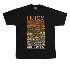 SFCA -  I Miss The Old S.F. Men's Shirt, Black - The Giant Peach - 1