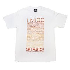 SFCA -  I Miss The Old S.F. Men's Shirt, White - The Giant Peach - 1