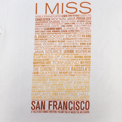 SFCA -  I Miss The Old S.F. Men's Shirt, White - The Giant Peach - 2
