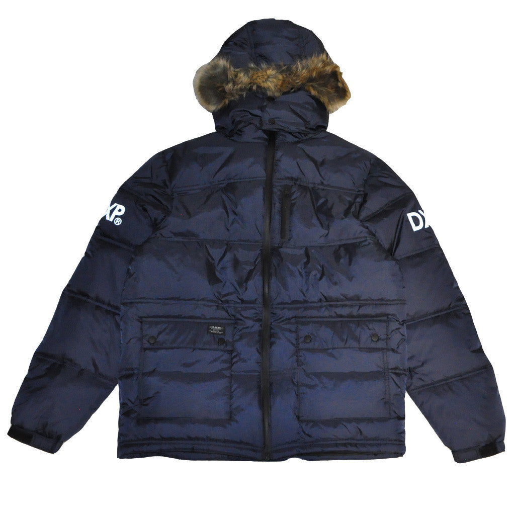 10Deep - Ice Station Bubble Snorkel Jacket, Navy - The Giant Peach - 2