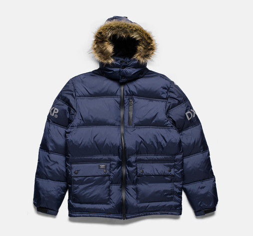 10Deep - Ice Station Bubble Snorkel Jacket, Navy - The Giant Peach - 1