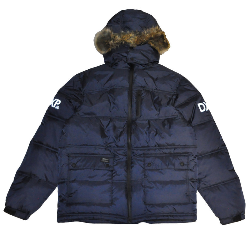 10Deep - Ice Station Bubble Snorkel Jacket, Navy - The Giant Peach