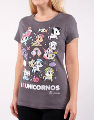 tokidoki - I Heart Unicornos Women's Tee, Storm - The Giant Peach - 3