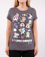 tokidoki - I Heart Unicornos Women's Tee, Storm - The Giant Peach - 1