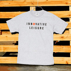 Innovative Leisure - IL Type Logo Men's T-Shirt, Gray - The Giant Peach
