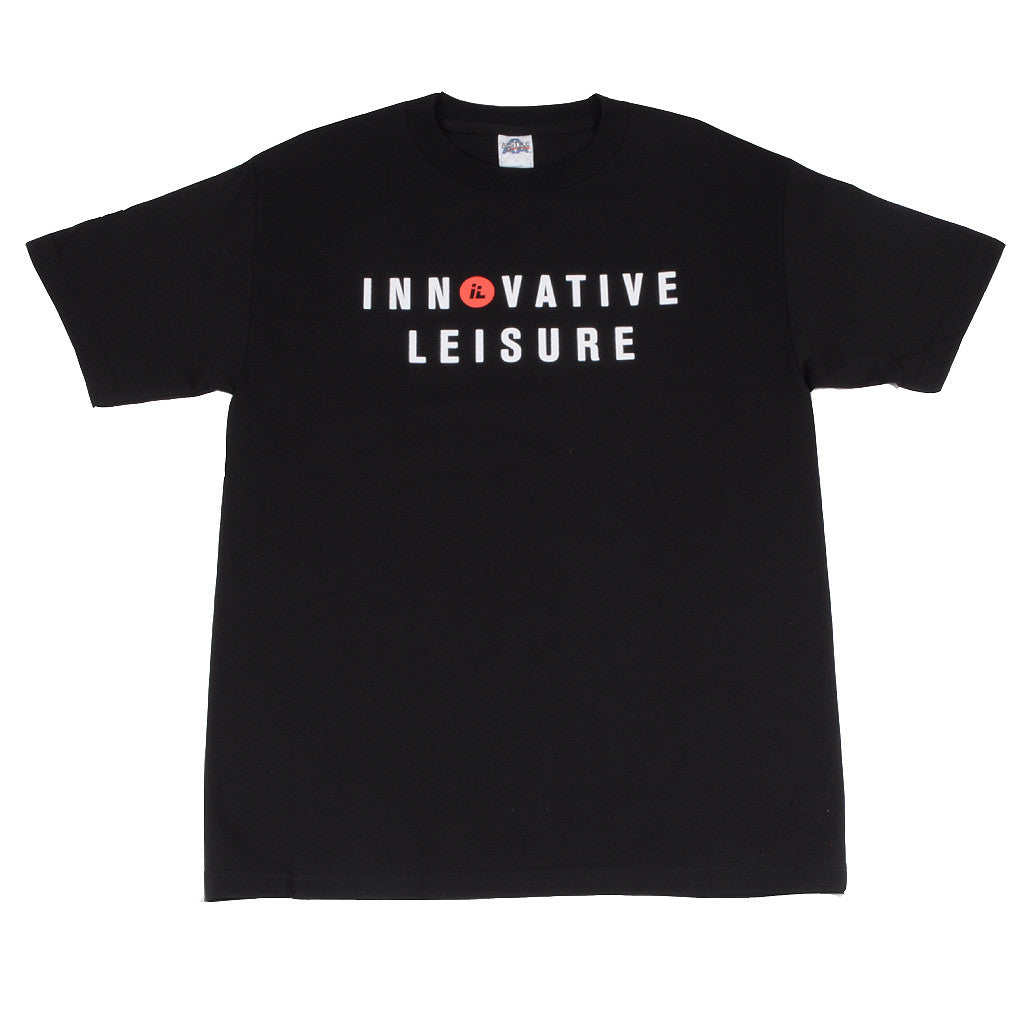 Innovative Leisure - IL Type Logo Men's T-Shirt, Black - The Giant Peach