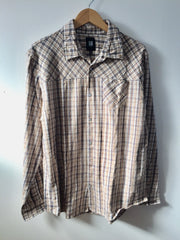 Insight - Bloodrock L/S Buttoned-Down Men's Shirt, Arabica - The Giant Peach