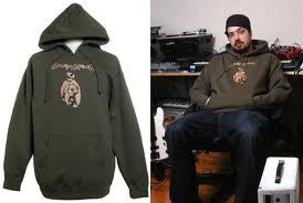 Aesop Rock - Bear Men's Hoodie, Olive - The Giant Peach