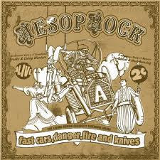 Aesop Rock - Fast Cars, Danger, Fire and Knives EP CD + The Living Human Curiosity Sideshow (autographed) - The Giant Peach