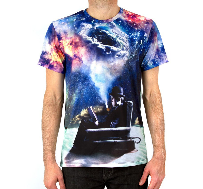 Imaginary Foundation - Imagining Immensity Sublimation Men's Shirt - The Giant Peach