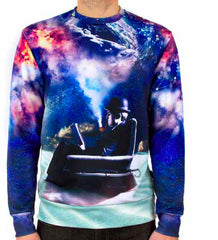 Imaginary Foundation - Imagine Immensity Men's Crewneck, Sublimation - The Giant Peach