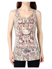 tokidoki x Hello Kitty Candy Queen Women's Tank Top, Oatmeal - The Giant Peach
