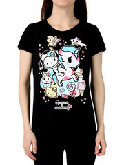 tokidoki  x Hello Kitty Milk And Sugar Women's Tee, Black - The Giant Peach