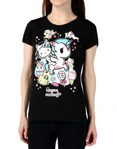 tokidoki  x Hello Kitty Milk And Sugar Women's Tee, Black