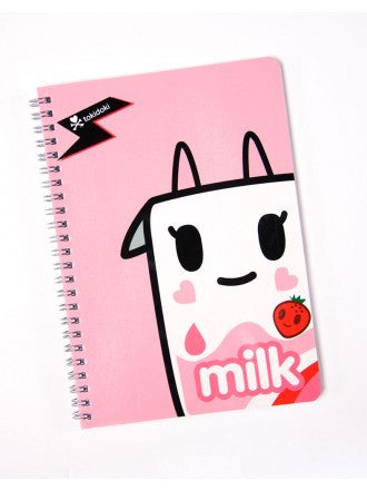 tokidoki -  Strawberry Milk Spiral Notebook