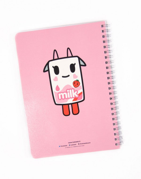 tokidoki -  Strawberry Milk Spiral Notebook - The Giant Peach