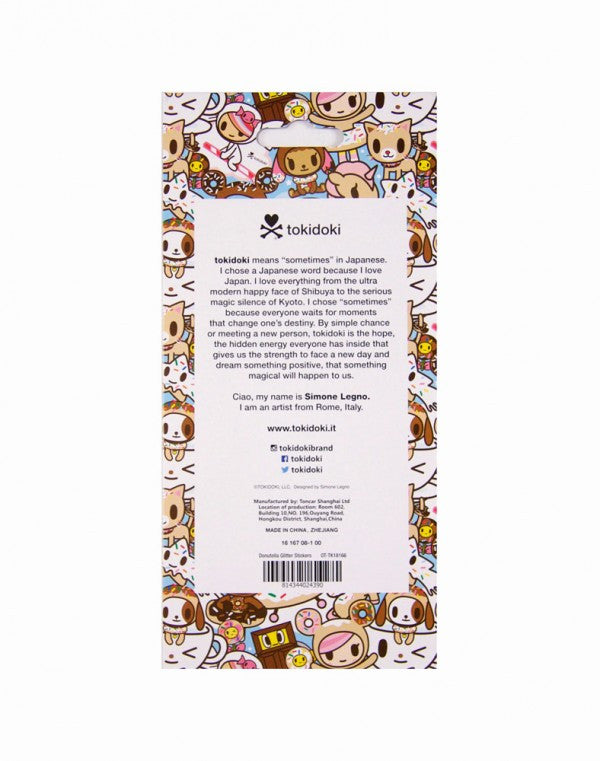 tokidoki - Donutella Glitter Stickers - The Giant Peach
