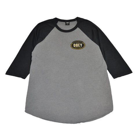 OBEY - Imperial Glory Eagle Men's Raglan, Charcoal/Black