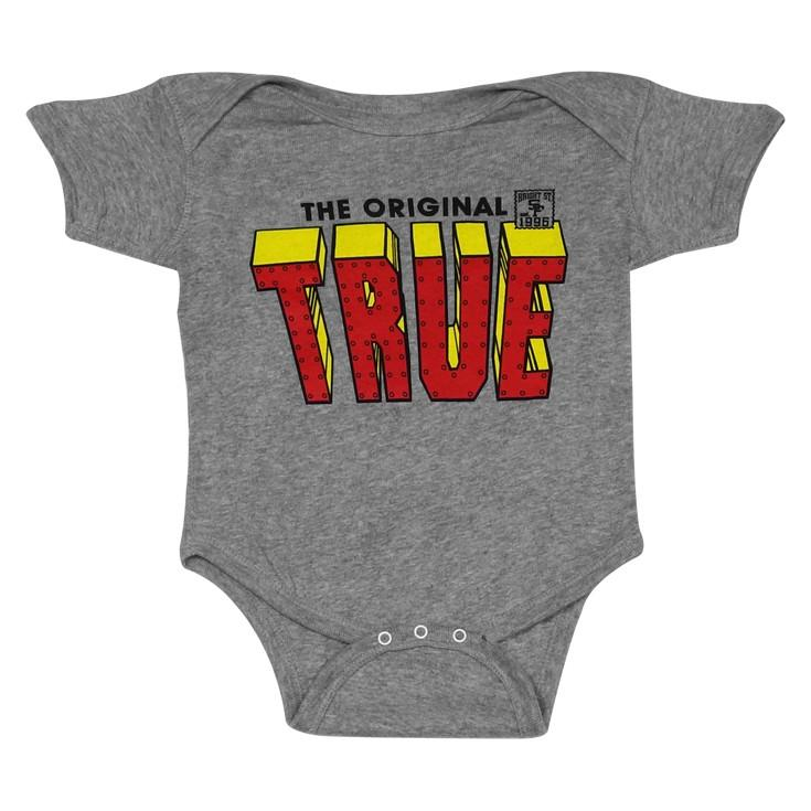 TRUE - Iron Infant One Piece, Heather Grey
