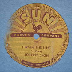 Johnny Cash - Sun Record Company Men's Shirt, Heather Grey - The Giant Peach