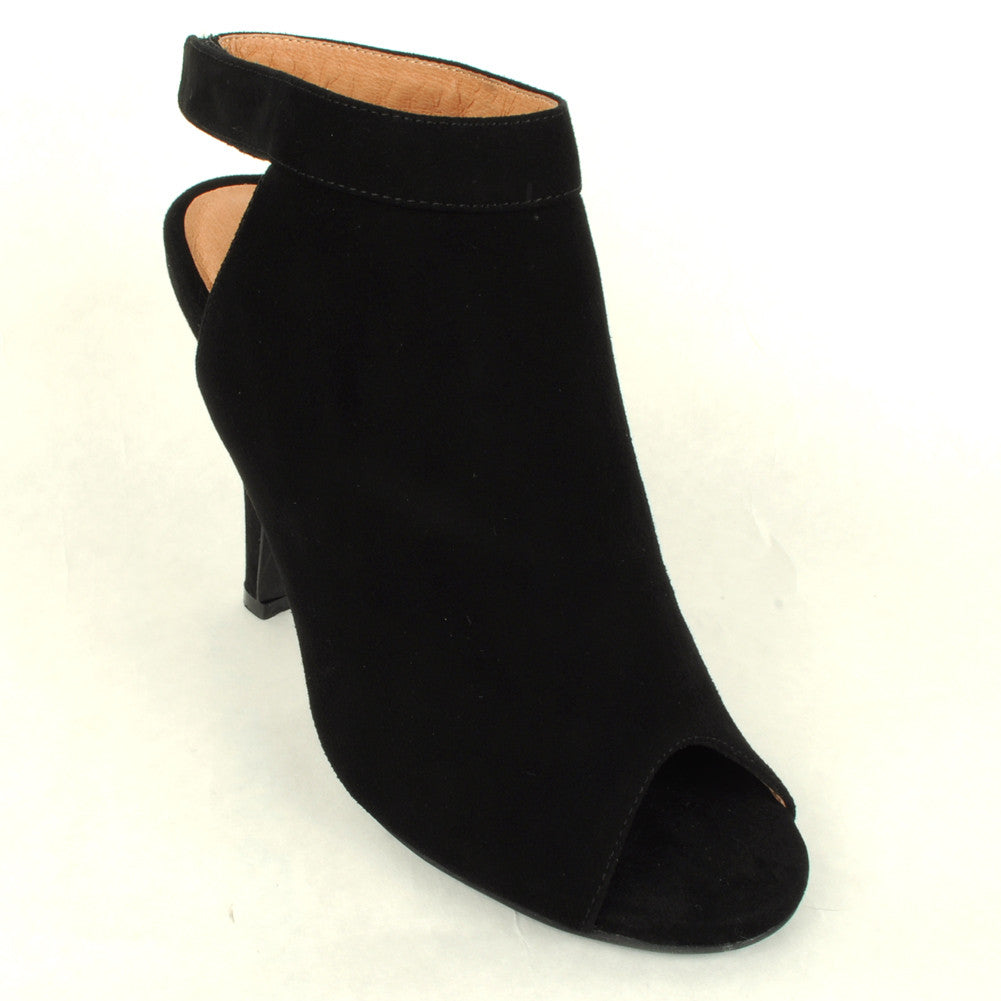 Jeffrey Campbell - Norene Heel, Black Suede - The Giant Peach - 2