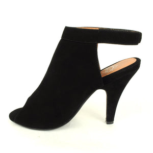 Jeffrey Campbell - Norene Heel, Black Suede - The Giant Peach