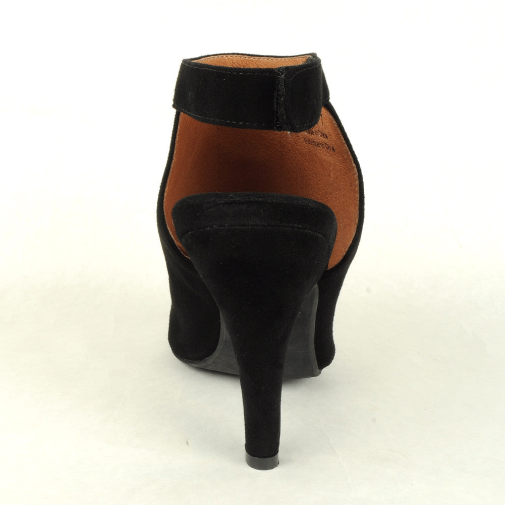 Jeffrey Campbell - Norene Heel, Black Suede - The Giant Peach - 4