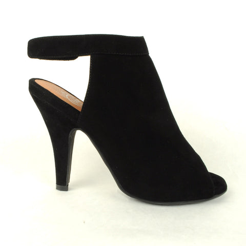 Jeffrey Campbell - Norene Heel, Black Suede - The Giant Peach - 1