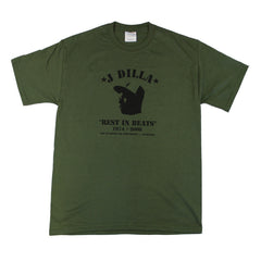 J Dilla - Rest In Beats Men's Shirt, Olive - The Giant Peach - 1