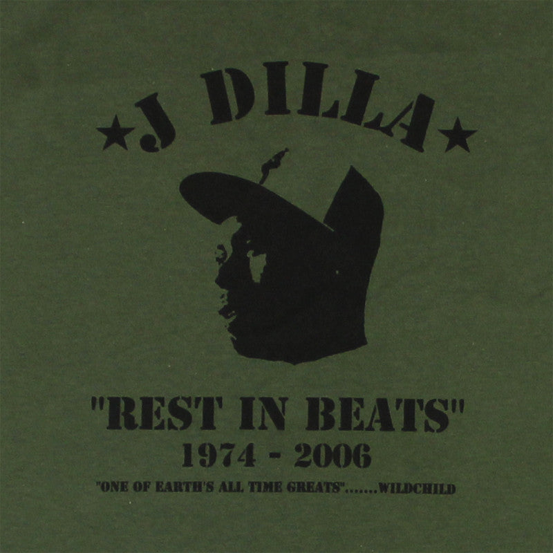 J Dilla - Rest In Beats Men's Shirt, Olive - The Giant Peach - 2