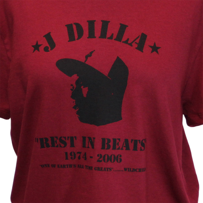 J Dilla - Rest In Beats Women's Shirt, Crimson - The Giant Peach - 2