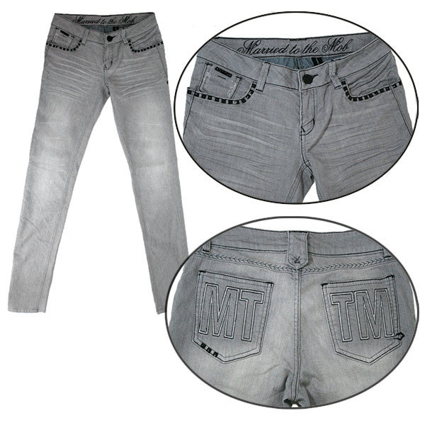 Married to the Mob - The Rockies Women's Jeans, Grey - The Giant Peach