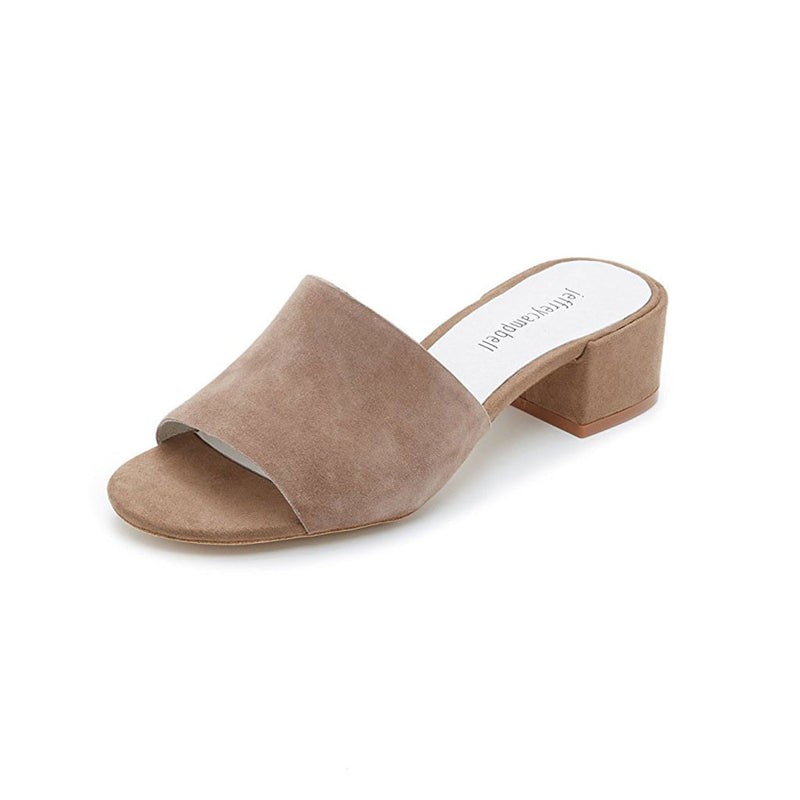 Jeffrey Campbell - Beaton Mules, Nude Suede - The Giant Peach