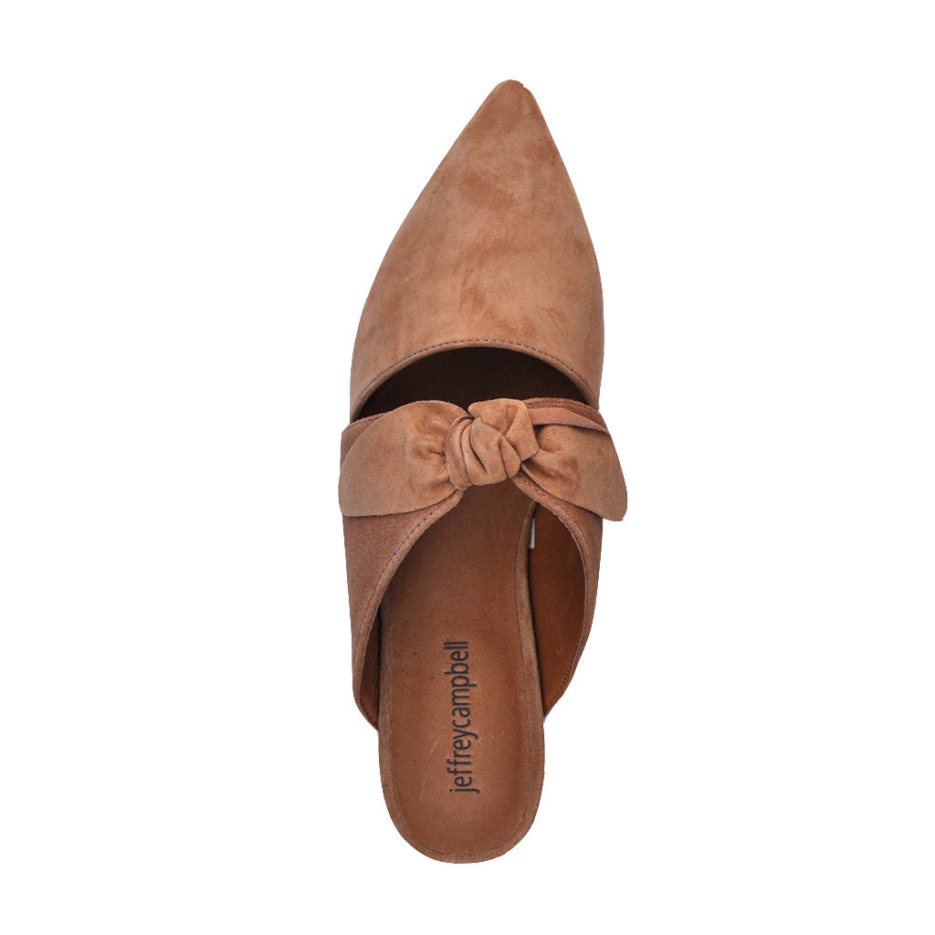 Jeffrey Campbell - Charlin Mules, Blush Suede - The Giant Peach