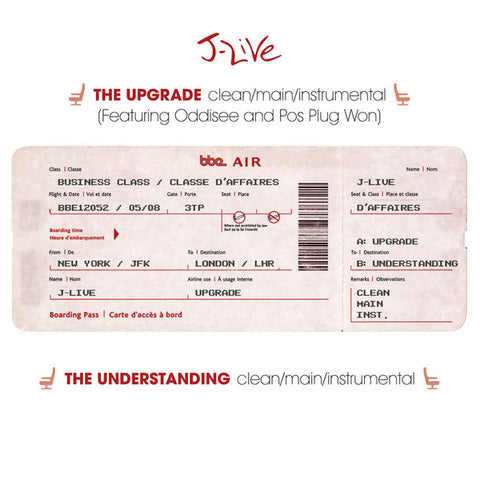 "J-Live - The Upgrade/ The Understanding, 12"" Vinyl"