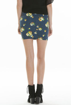 OBEY - Jolene Tube Skirt, Indigo - The Giant Peach