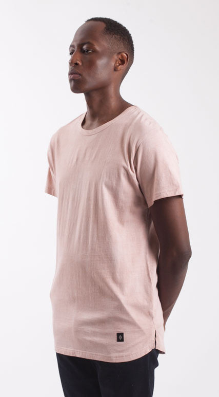 Akomplice VSOP- JQOGA Men's Tee, Pink - The Giant Peach