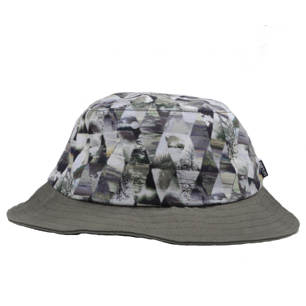 The Quiet Life - Kaleidescope Bucket Hat, Black/ Tan - The Giant Peach - 1