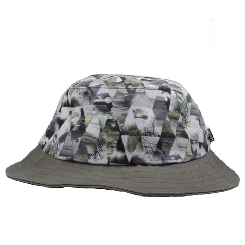 The Quiet Life - Kaleidescope Bucket Hat, Black/ Tan