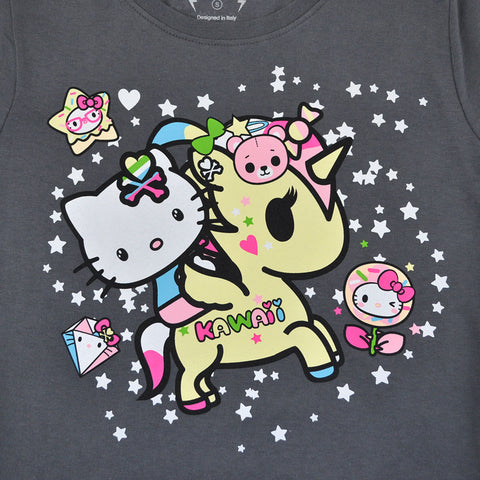 tokidoki - Kawaii Kitty Women's Tee, Storm