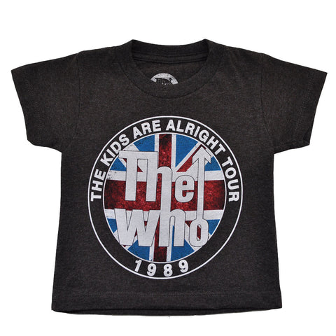 The Who - The Kids Are Alright Tour Toddler Tee, Charcoal