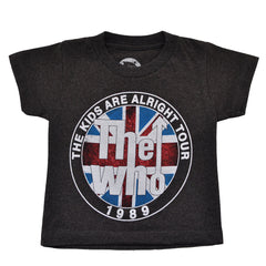 The Who - The Kids Are Alright Tour Toddler Tee, Charcoal - The Giant Peach