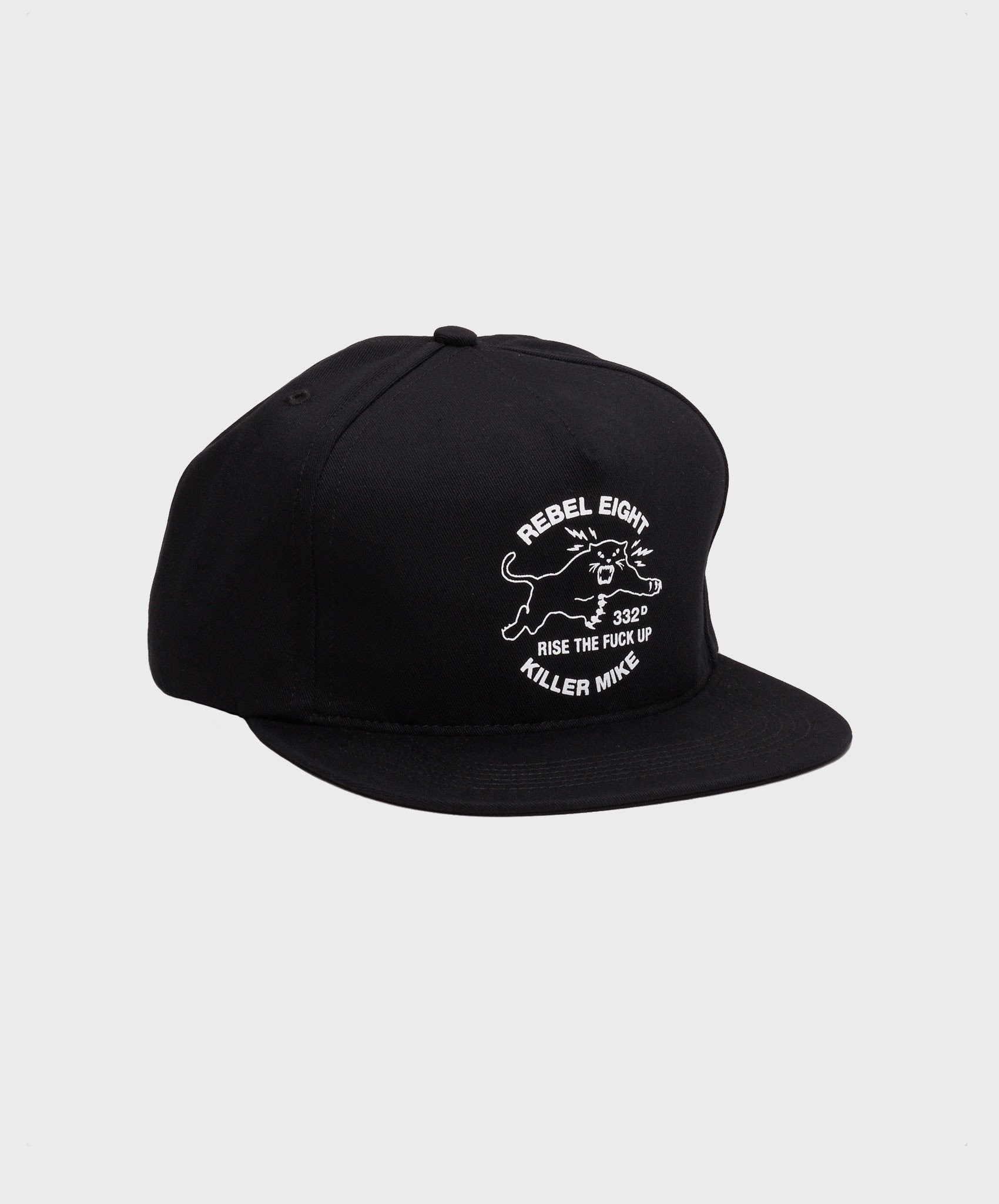 REBEL8 x Killer Mike - Regiment Snapback Hat, Black - The Giant Peach