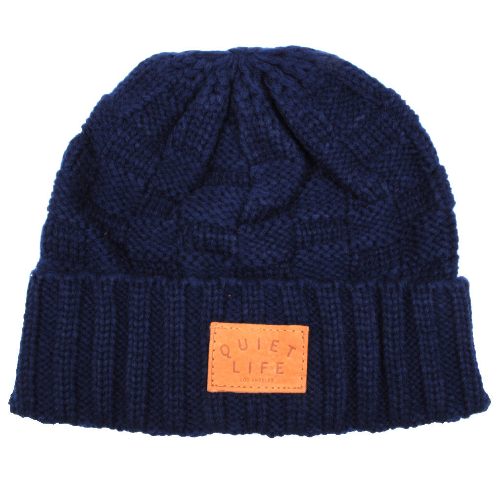 The Quiet Life - Knit Beanie, Navy - The Giant Peach
