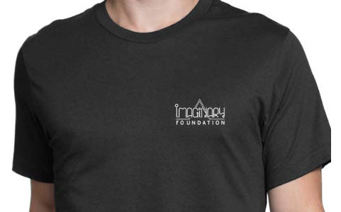 Imaginary Foundation - Knowledge Men's Shirt, Black - The Giant Peach - 2