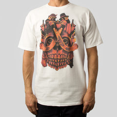SuperFishal (Jeremy Fish) - Last Duel Men's Shirt, White - The Giant Peach