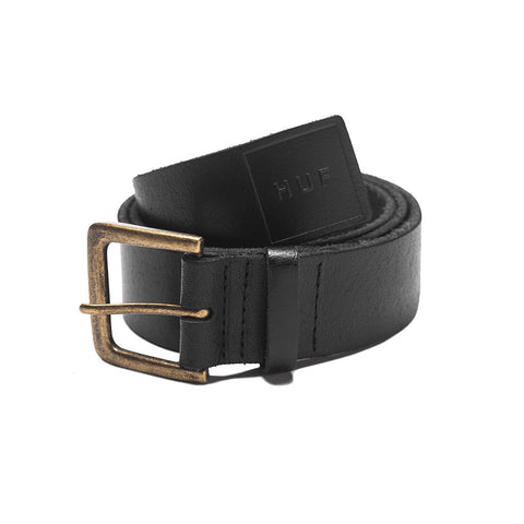 HUF - Genuine Leather Belt, Black