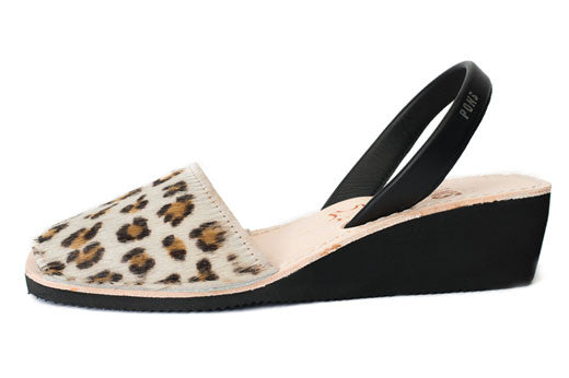 Pons Avarcas - Wedge Animal Prints, Leopard - The Giant Peach
