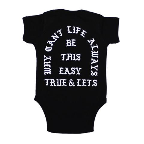 TRUE x Let's Stay Cool Infant One Piece, Black
