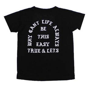 TRUE x Let's Stay Cool Kids Tee, Black